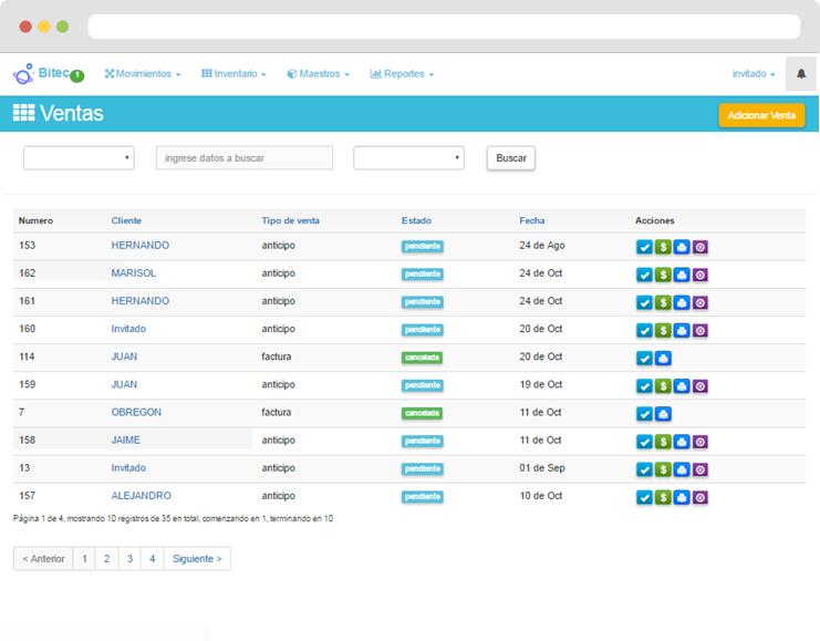 Sistema para ventas pedidos creditos e inventarios for Software muebleria