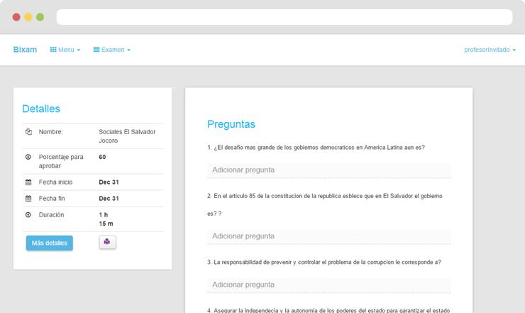 Software para crear y administrar exámenes en linea